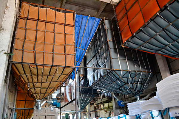 Выдержка сырья в силосах на производстве пенопласта